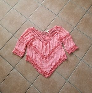Marineblu Crochet Blouse